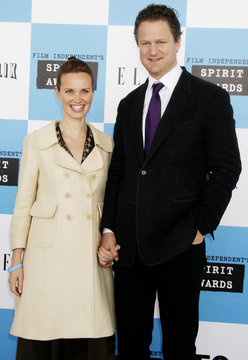 Director Florian Henckel von Donnersmarck of the Best Foreign Feature nominated film 'The Lives of Others' and his wife Christianne arrive at Film Independent's Spirit Awards in Santa Monica