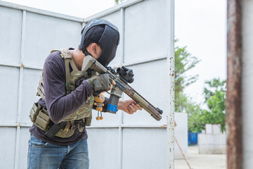 airsoft guns player, Thailand