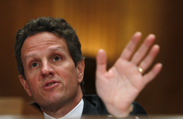 U.S. Treasury Secretary Timothy Geithner testifies at a hearing before a Congressional Oversight Panel overseeing the expenditure of the Troubled Asset Relief Program (TARP) on Capitol Hill in Washington