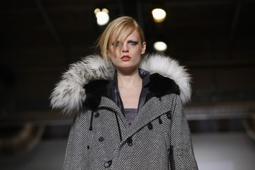 A model presents a creation from Preen by Thornton Bregazzi Fall 2009 collection during New York Fashion Week in New York