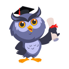 Nice owl, he is celebrating his graduation
