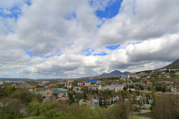 View of the resort town of Pyatigorsk. Russia