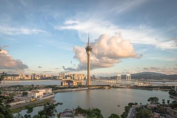 Tower, Iconic Building at sunset - Macau, China