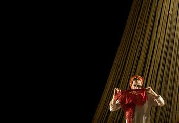 "Iranian actress Sara Reyhani performs in dance theatre ""Made in Iran"" in Niavaran culture centre in Tehran"
