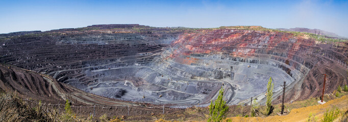 Panorama of a biggest openpit mine in Europe