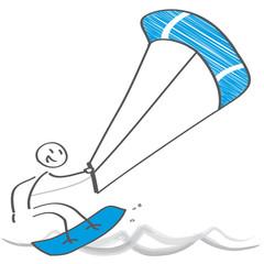 Kitesurfen - Vektor Illustration