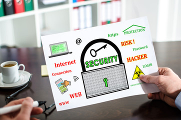 Data security concept on a paper