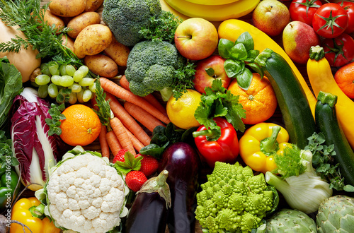 Wall mural Different fruits and vegetables