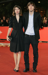 Movie director Sofia Coppola and her companion Thomas Mars attend the world premiere of 'Youth without youth' at the Rome International Film Festival