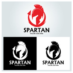 Spartan logo design template. Vector illustration