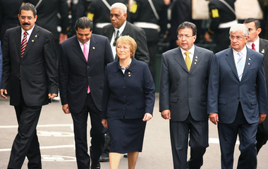 Presidents of different countries in the region arrive for inauguration ceremony of Peru's new President Garcia in Lima