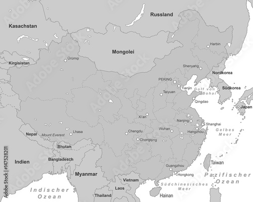 China Karte Hongkong.China Karte Grau Stock Image And Royalty Free Vector