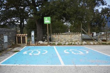 Ladestation für Elektroautos,Palma de Mallorca,Spanien