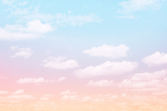 Fabulous background Sky with clouds