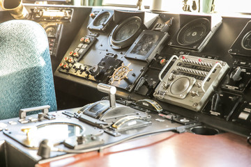 In a cockpit  of Polish Navy ship