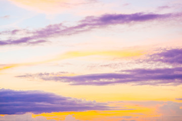 Colourful majestic twilight sunset sky