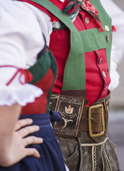 Traditional festival with folk group of San Candido, South Tyrol, Italy