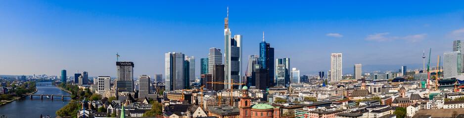 Frankfurt am Main, Blick vom Domturm. April 2017.