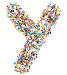 Confetti alphabet - letter Y