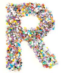 Confetti alphabet - letter R