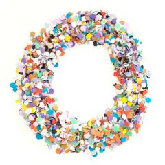 Confetti alphabet - letter O