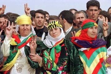 KURDS CELEBRATE NEW YEAR IN DIYARBAKIR.