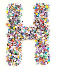Confetti alphabet - letter H