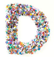 Confetti alphabet - letter D
