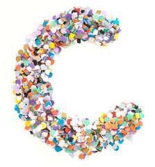 Confetti alphabet - letter C