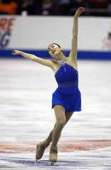 Kim Yu-Na of South Korea performs during the Ladies Free Skating Competition at Skate America in Lake Placid