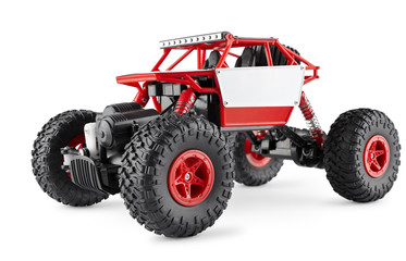 Red radio-controlled SUV