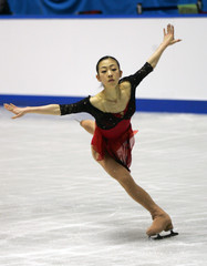 Suguri of Japan performs short programme at Japan Figure Skating Championships in Tokyo