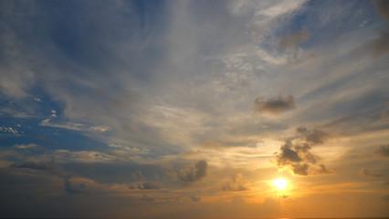 evening sunset sky, Thailand.