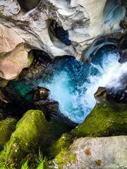 The Chasm, Milford Sound, New Zealand - Stock Photo