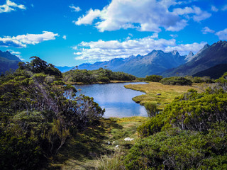 Te Anau, Mount Luxmore, Fiordland, New Zealand - Stock Photo