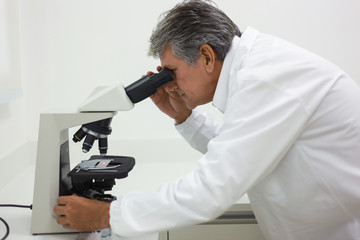 Scientist doing technical and chemical analysis of corn and soybean