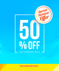 Special Summer offer 50% Off