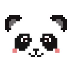 Pixel panda face