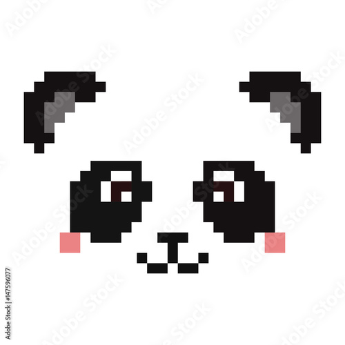 Pixel Panda Face Stock Image And Royalty Free Vector Files On