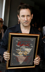 Smashing Pumpkins Jimmy Chamberlin is inducted into Hollywood Rock Walk in Hollywood