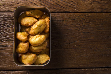 cassava snacks fried