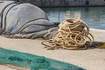 Redes en Puerto Pesquero