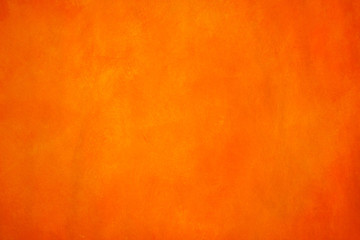 Vibrant, monochromatic, orange and yellow background. Saturated, warm colored acrylics on paper....