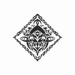 Fototapeta Repeated background pattern, tattoo pattern, tattoo obraz