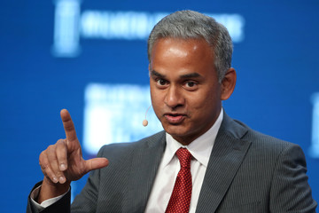 N.V. Tyagarajan, President and CEO of Genpact, speaks during the Milken Institute Global Conference in Beverly Hills