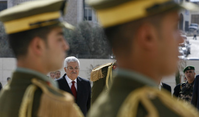Palestinian President Abbas attends inauguration of the newly built mausoleum in Ramallah