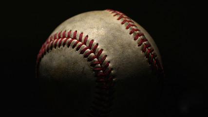 Baseball On Black