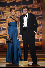 Actors Robert Sean Leonard and Vanessa Williams present the Best Performance by a Featured Actor in a Musical award at the 61st Annual Tony Awards in New York