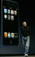 Apple CEO Steve Jobs introduces the new Apple iPod Touch media player in San Francisco
