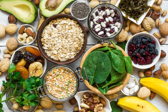 Food containing magnesium and potassium